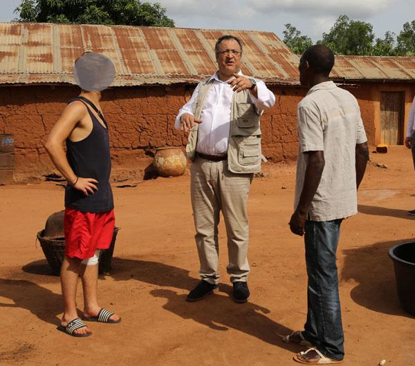 Le Ministre de l'Aide à la Jeunesse en visite au Bénin