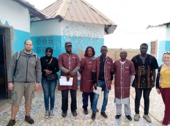 Coline et François en mission en Afrique